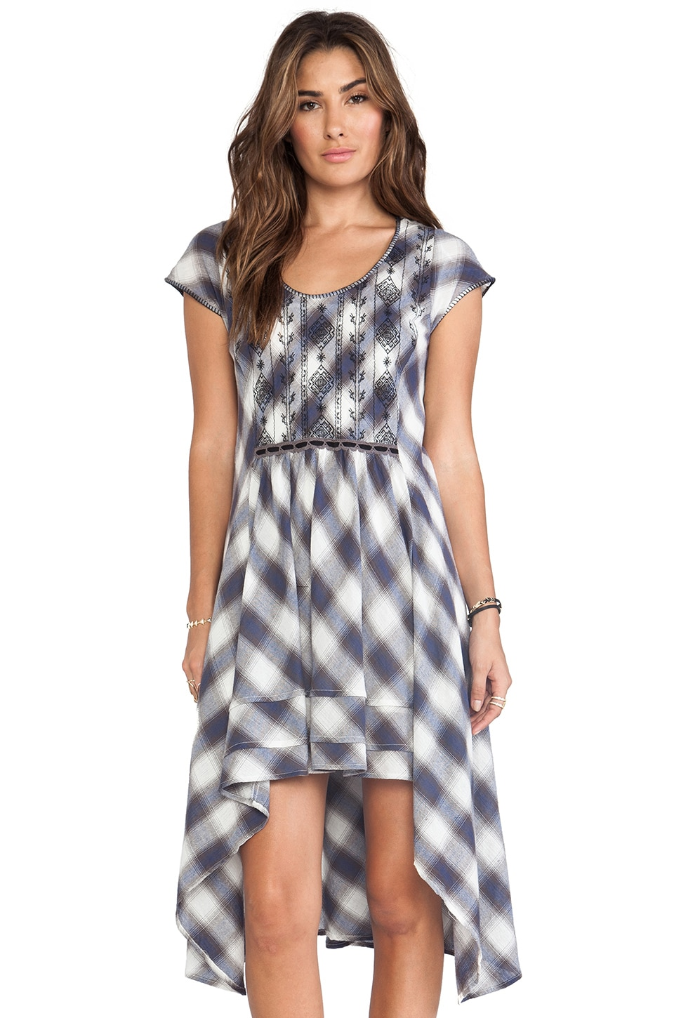 Free People Rad for Plaid Dress in White Combo