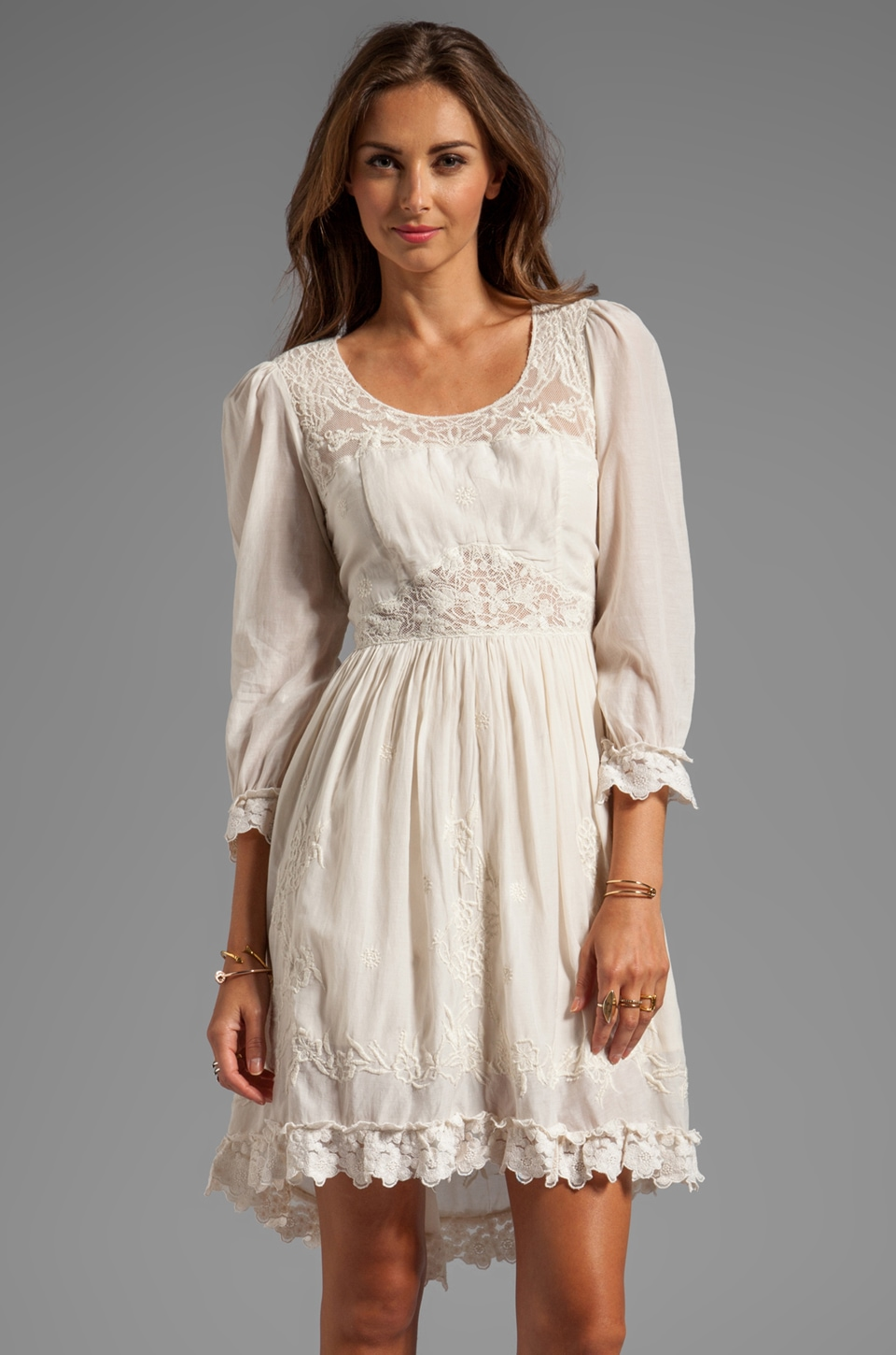 Free People Montana Dress in French Vanilla
