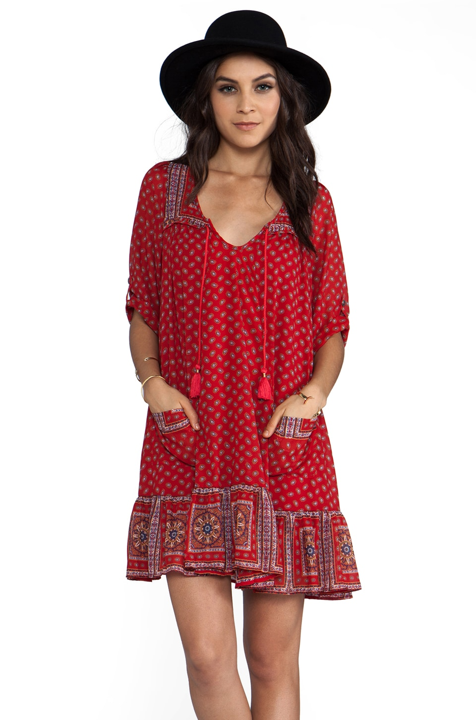 Free People Penny Lane Dress in Red