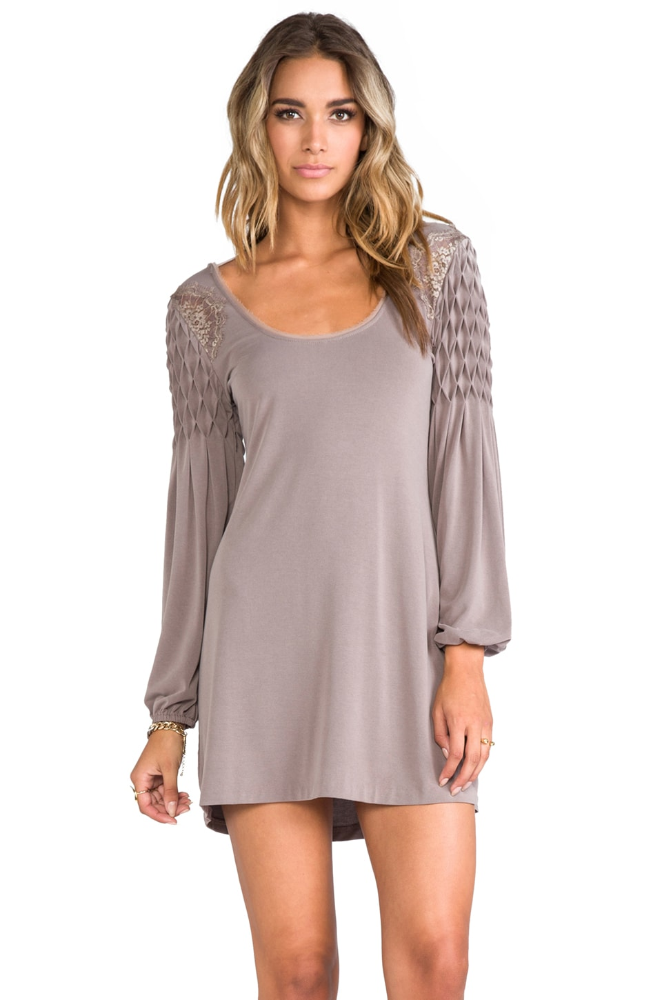 Free People Jessies Mini Dress in Dark Taupe