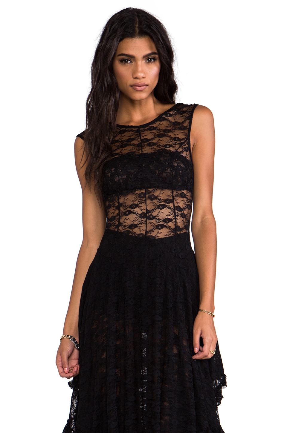 Free People French Court Slip in Black