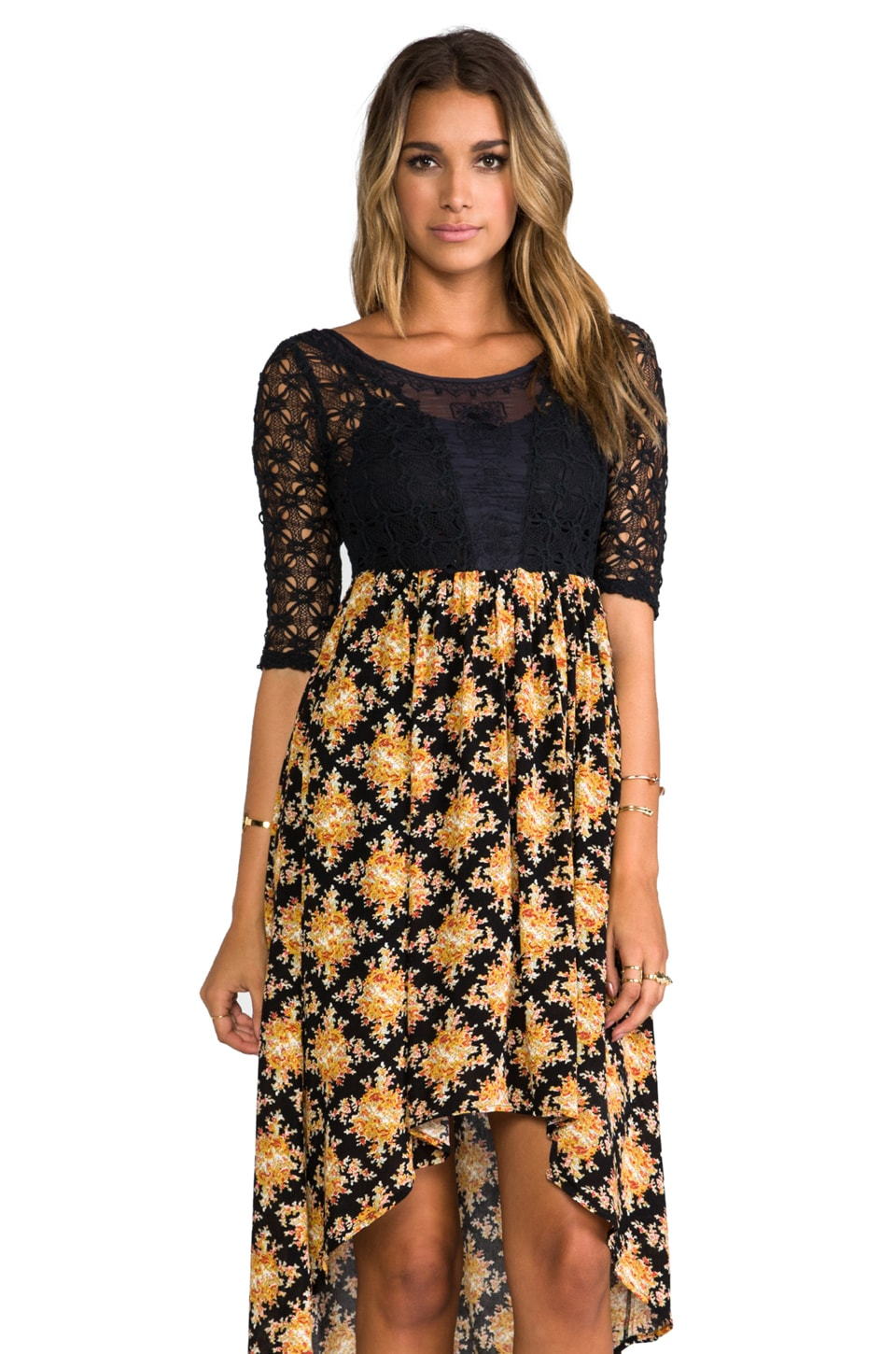 Free People Lonesome Dove Dress in Black Combo