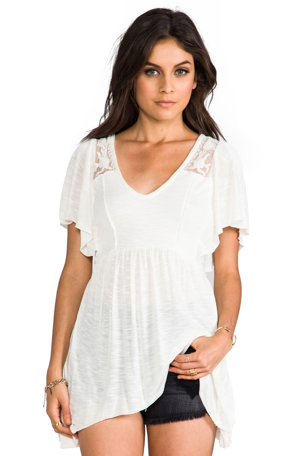 Free People Beautiful Stranger Tunic in Ivory