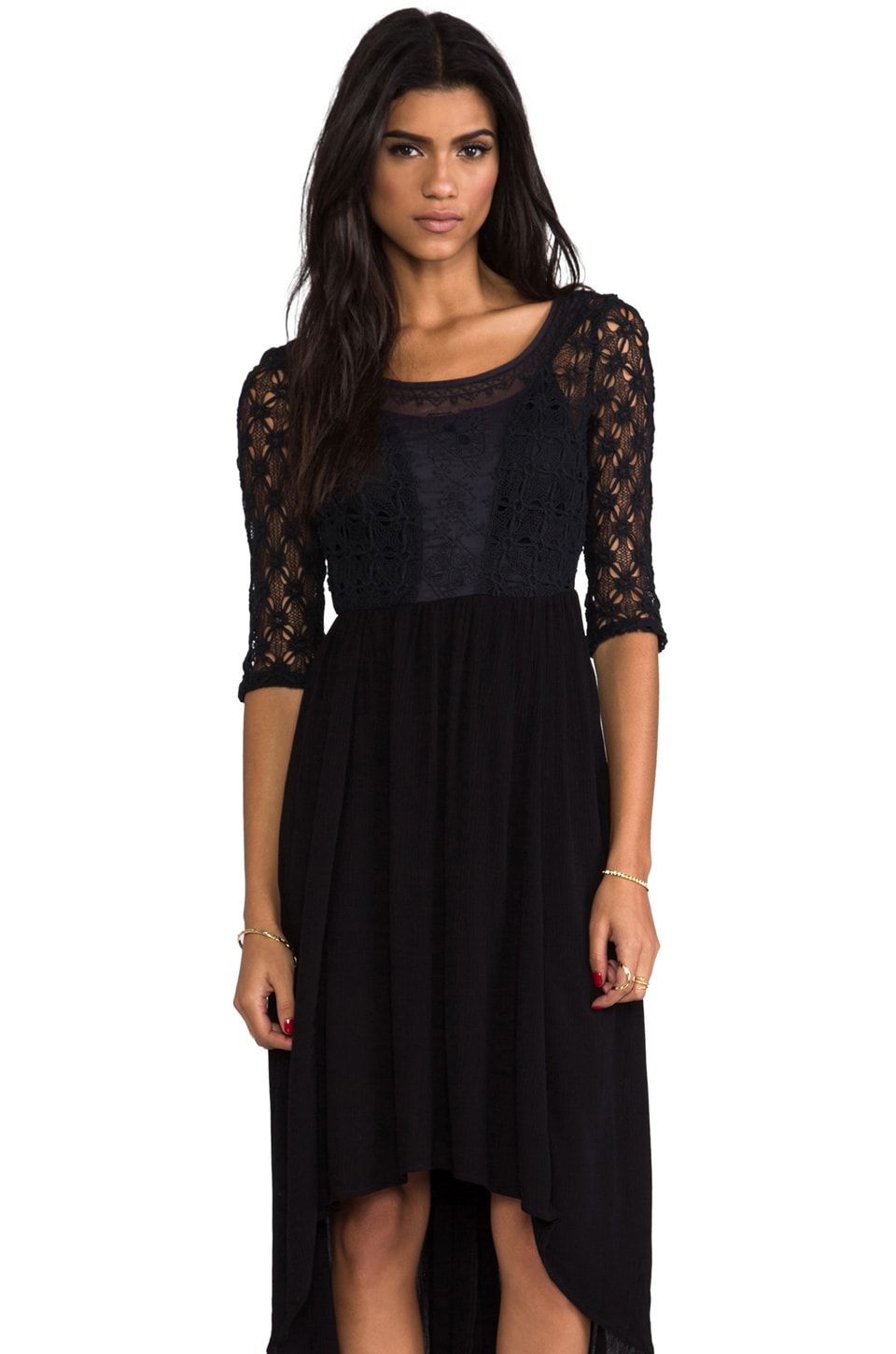 Free People Lonesome Dove Dress in Black