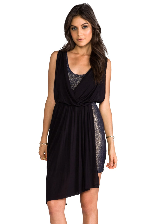 Free People Elanore Mini Dress in Black Combo
