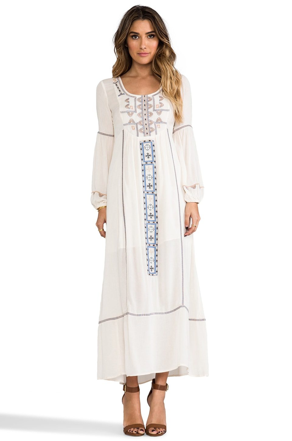 Free People Desert Winds Dress in Ivory Combo