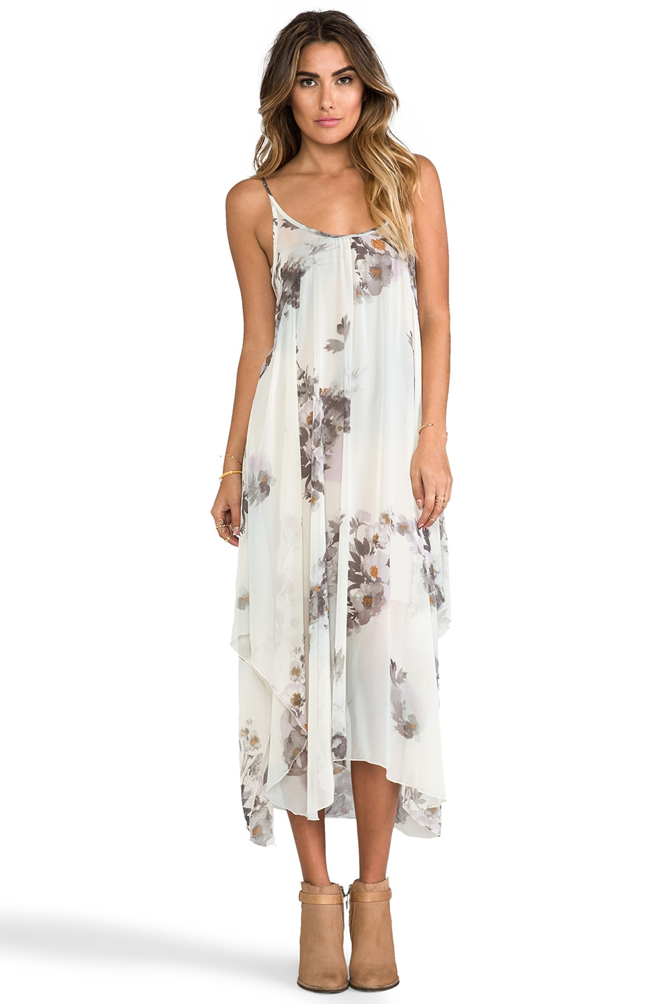 Free People Waterfalls Slip in Ivory Combo
