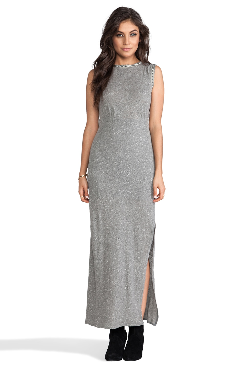 Free People Sabrina Maxi Dress in Grey Heather