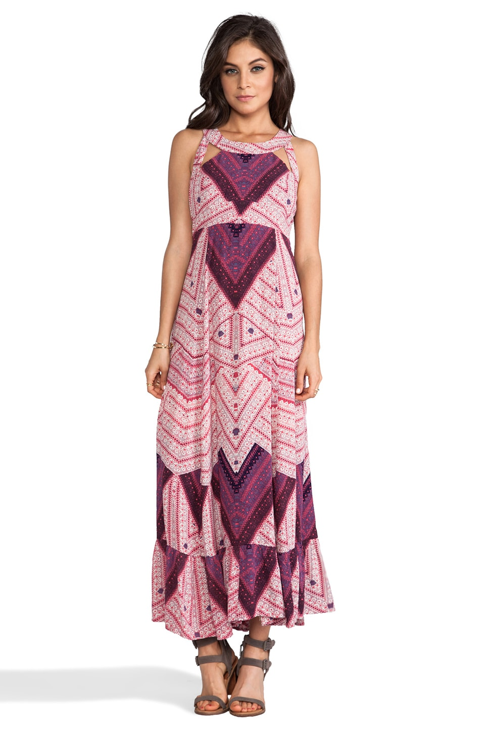 Free People You Made My Day Printed Dress in Wildflower Combo