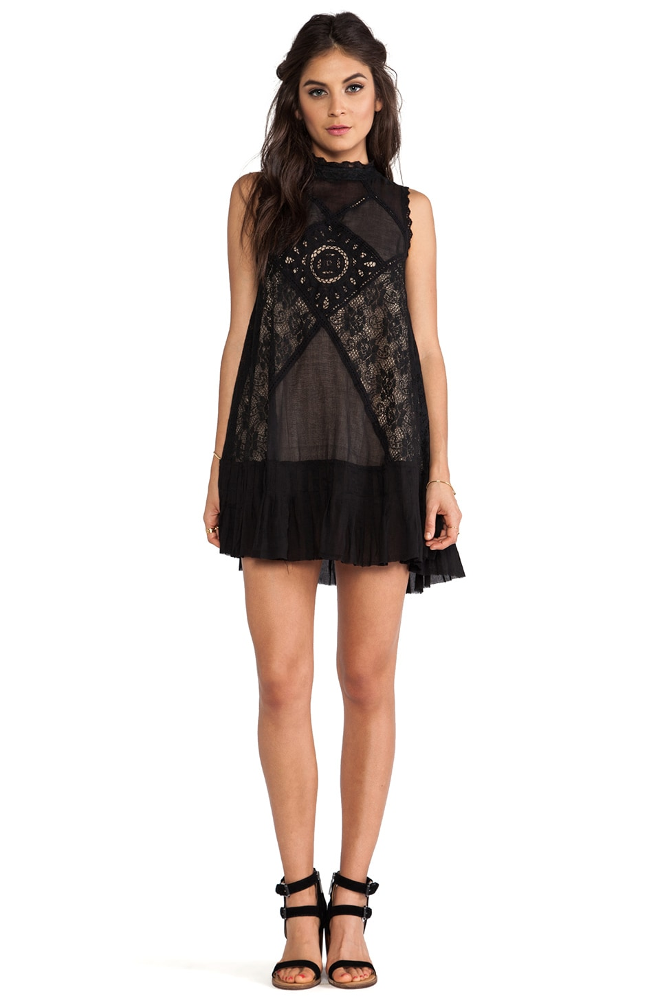 Free People Angel Lace Dress in Black - REVOLVE
