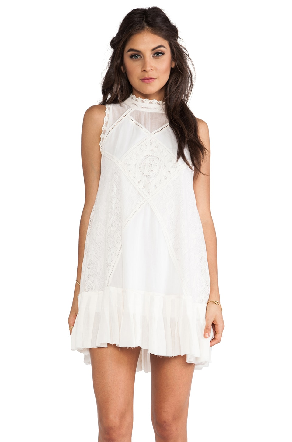 Free People Angel Lace Dress in Ivory