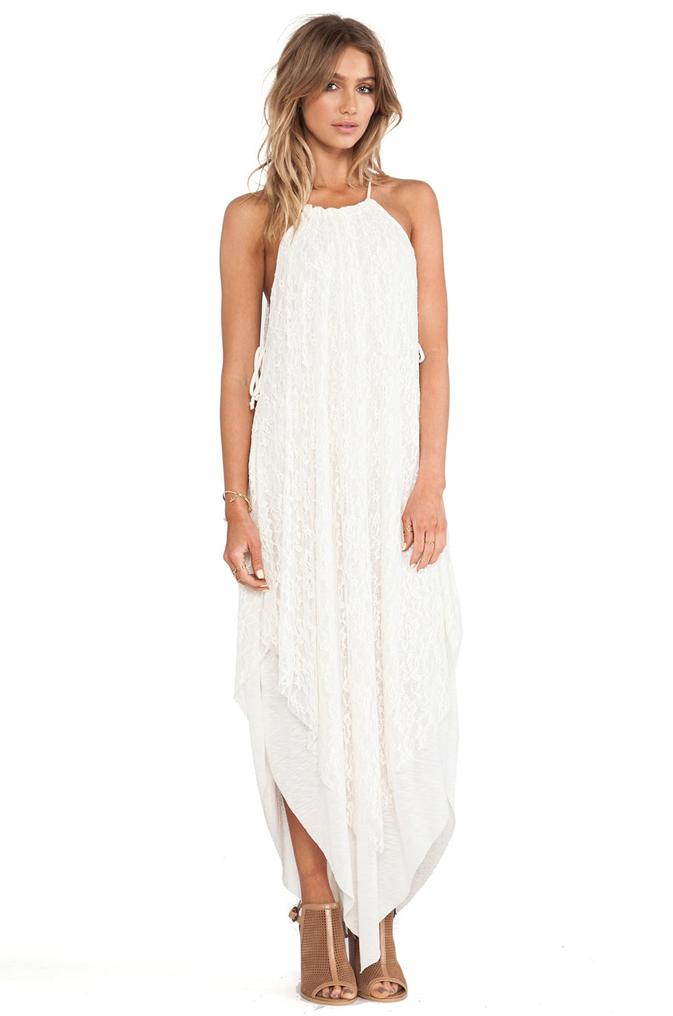 Free People Olympia Lace Dress in Ivory