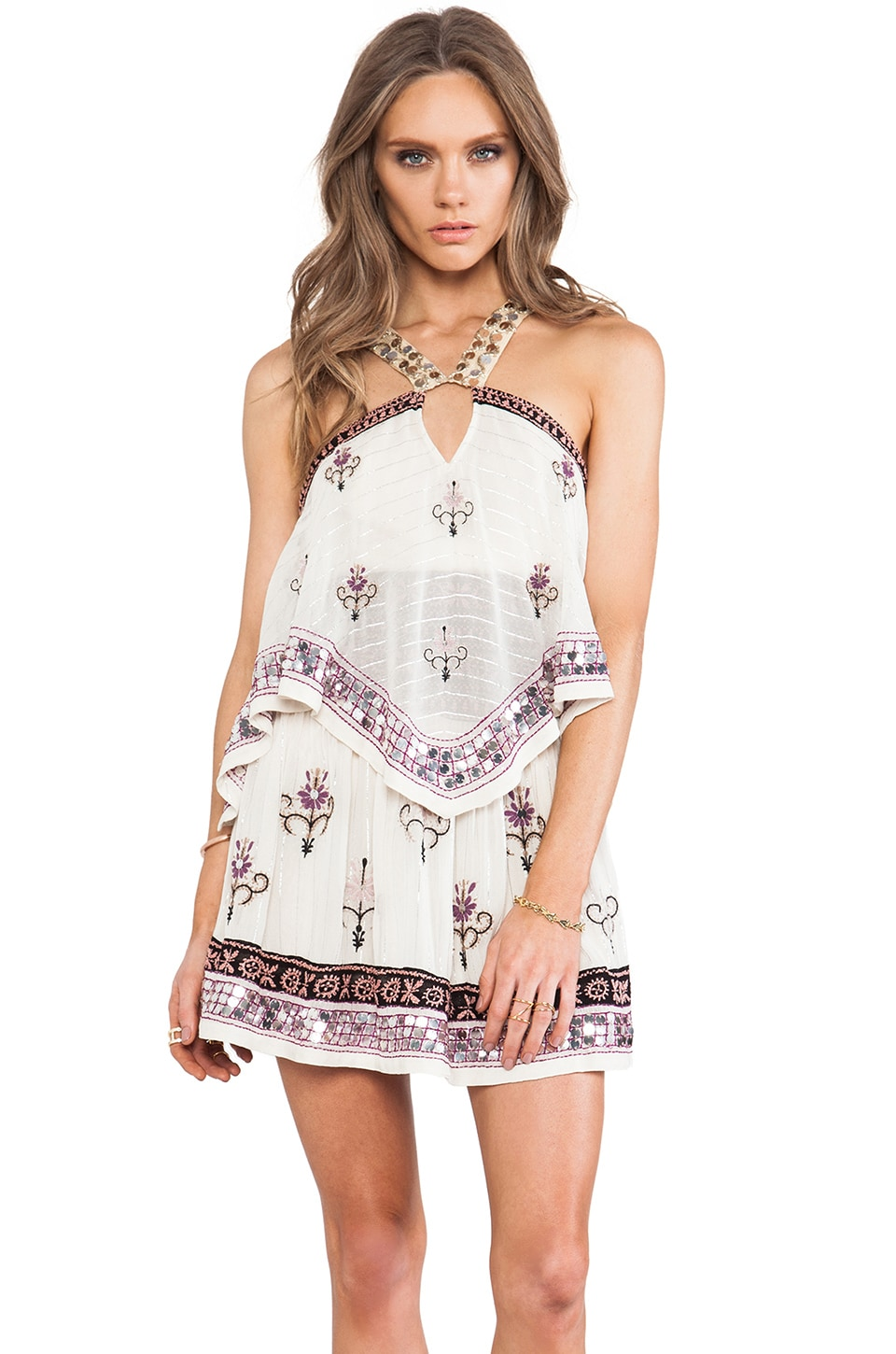 Free People Smoke & Mirrors Party Dress in Ivory Combo