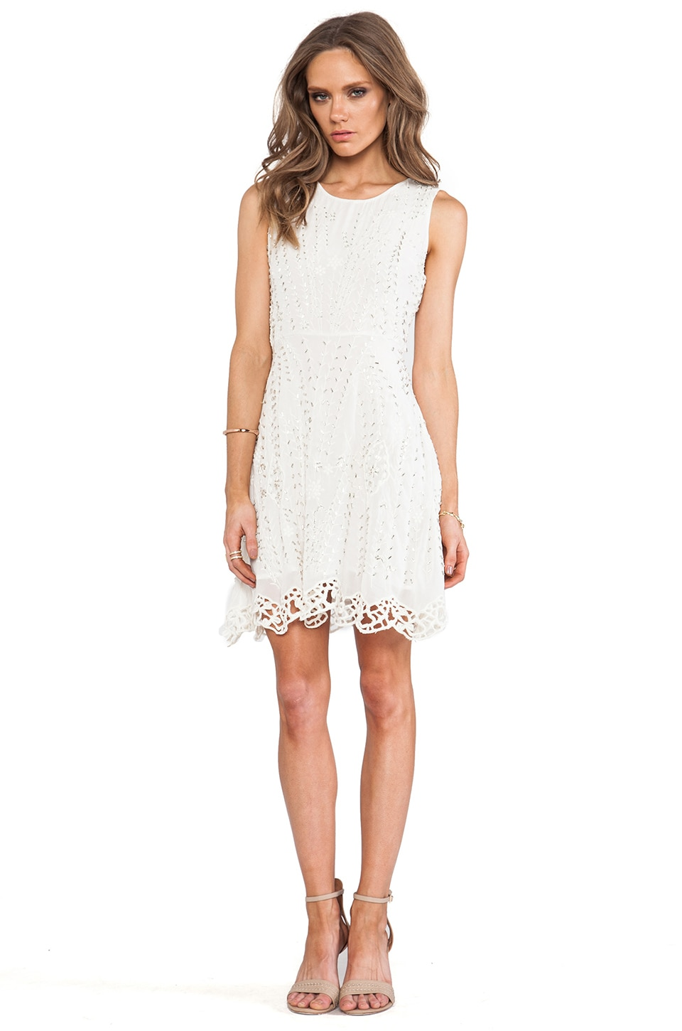 Free People Sparkling Beauty Dress in Off White