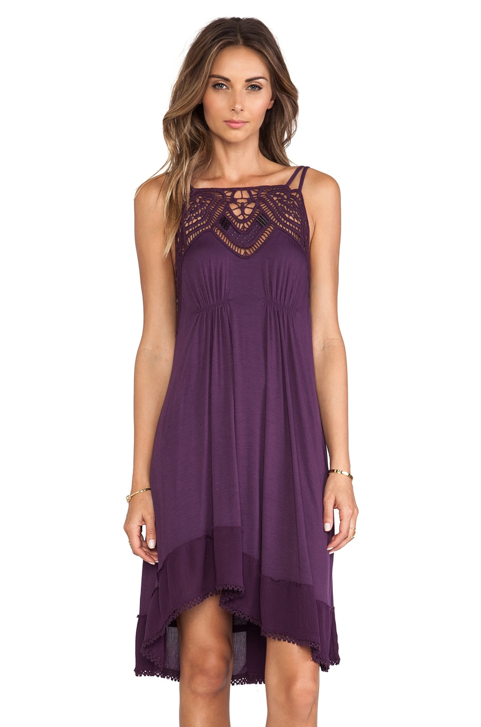 Free People Star Lace Dress in Rich Purple