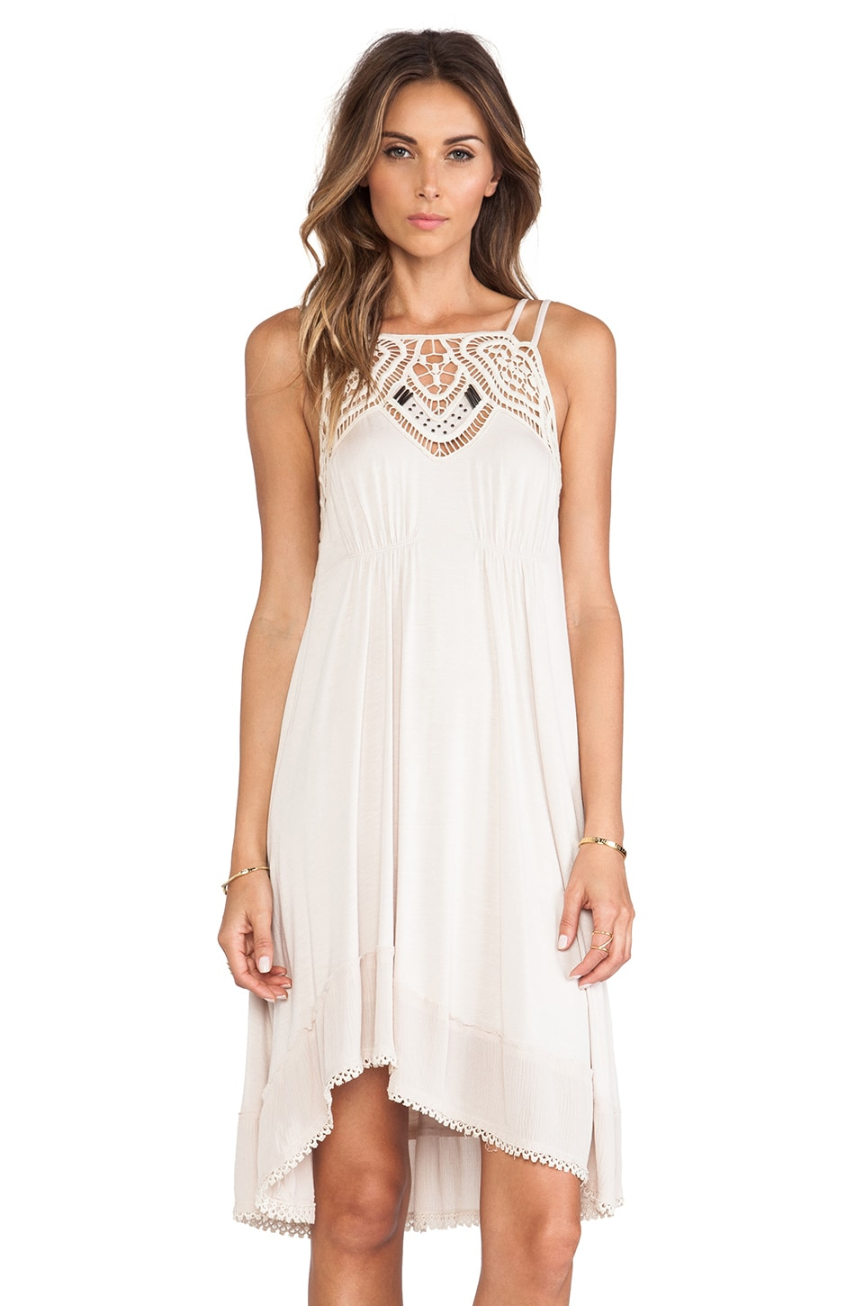 Free People Star Lace Dress in Sand