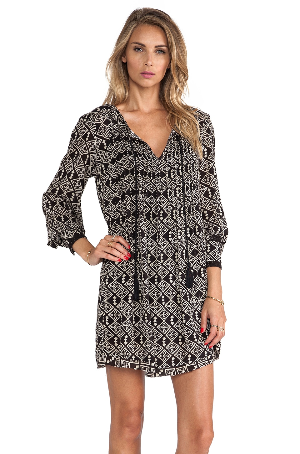 Free People Marlow Dress in Black Combo