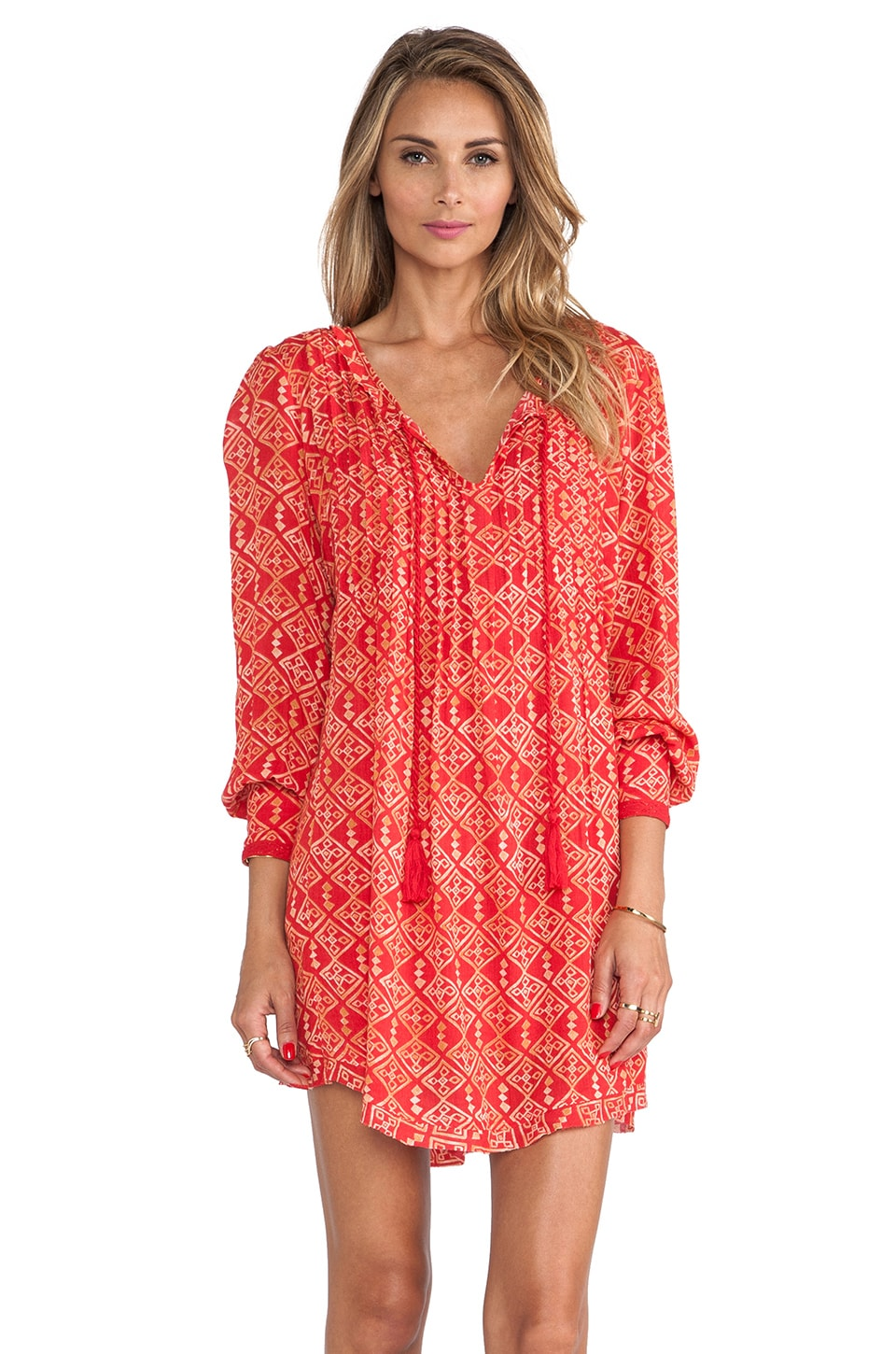 Free People Marlow Dress in Red Combo