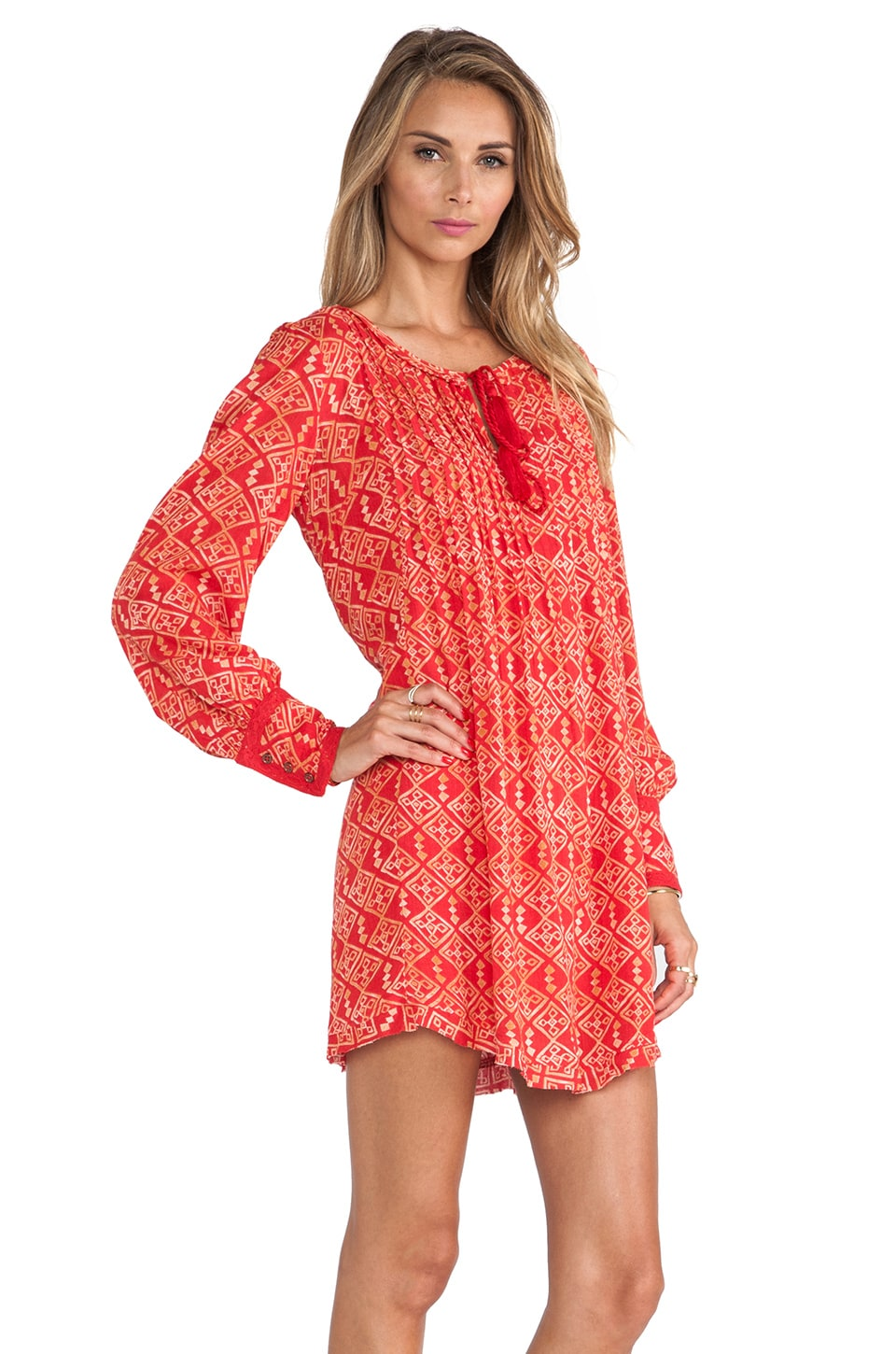 Free People Marlow Dress in Red Combo - REVOLVE