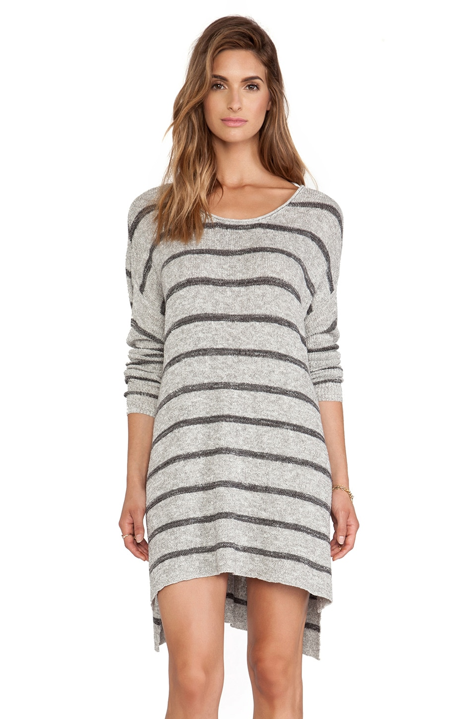 Free People Shipping News Tunic in Grey Combo