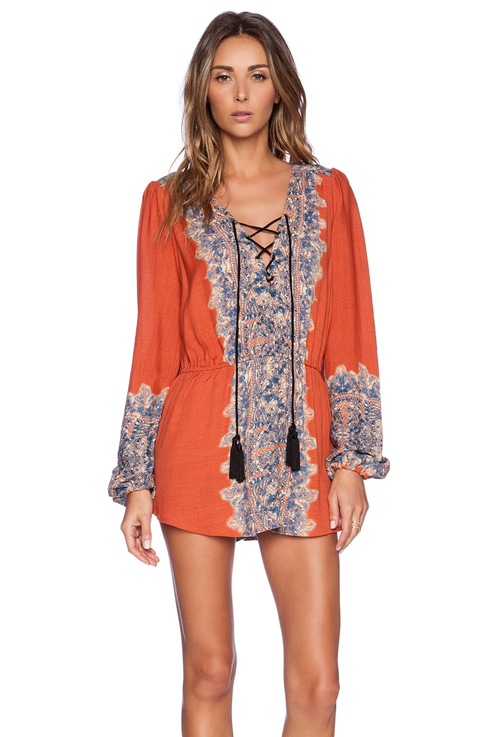 Free People Wildest Moments Tunic in Persimmon Combo