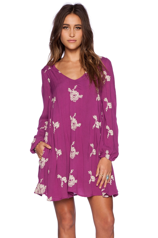 Free People Emma&39s Dress in Berry Purple Combo  REVOLVE