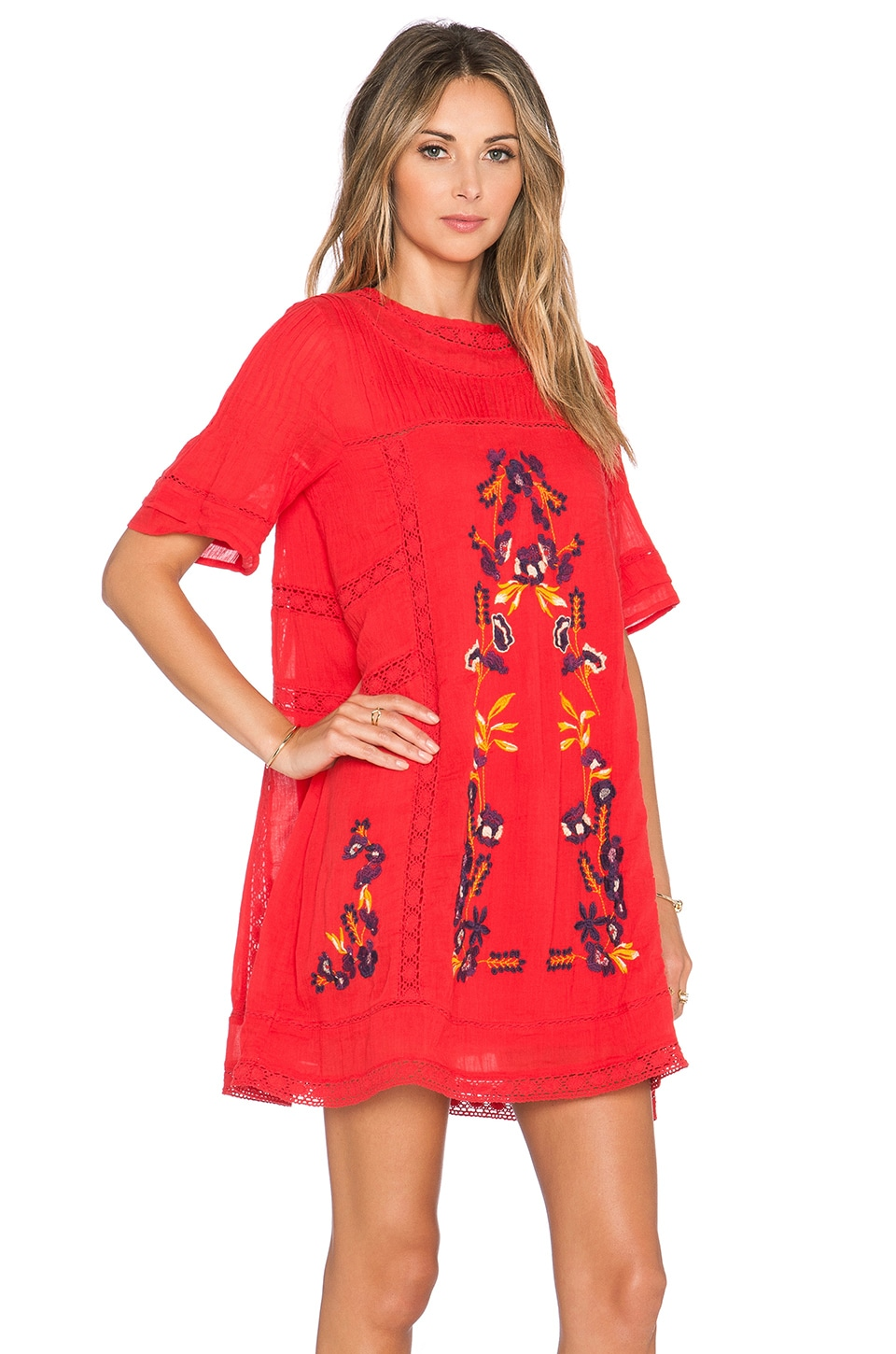 Free People Perfectly Victorian Dress in Tomato - REVOLVE
