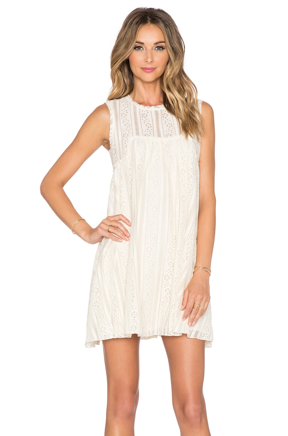 Free People Tu Es La Mini Dress in Antique