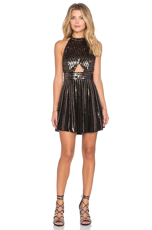 Free People Sequin Stripe Mini Dress in Black - REVOLVE
