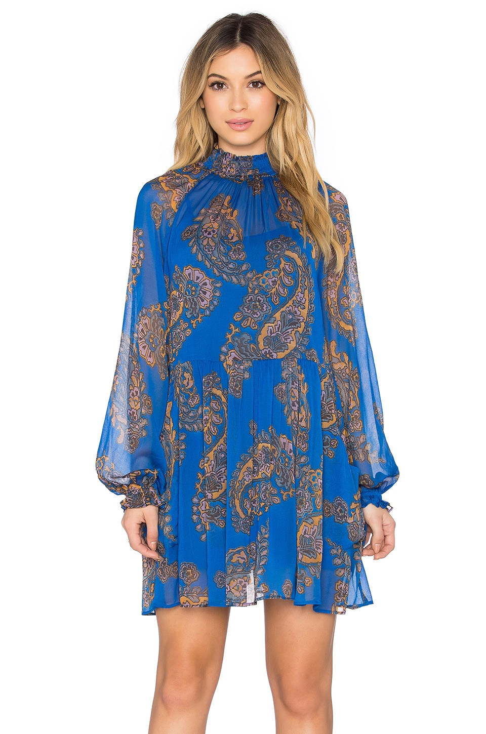 Free People Moonstruck Mini Dress in Cobalt Combo | REVOLVE
