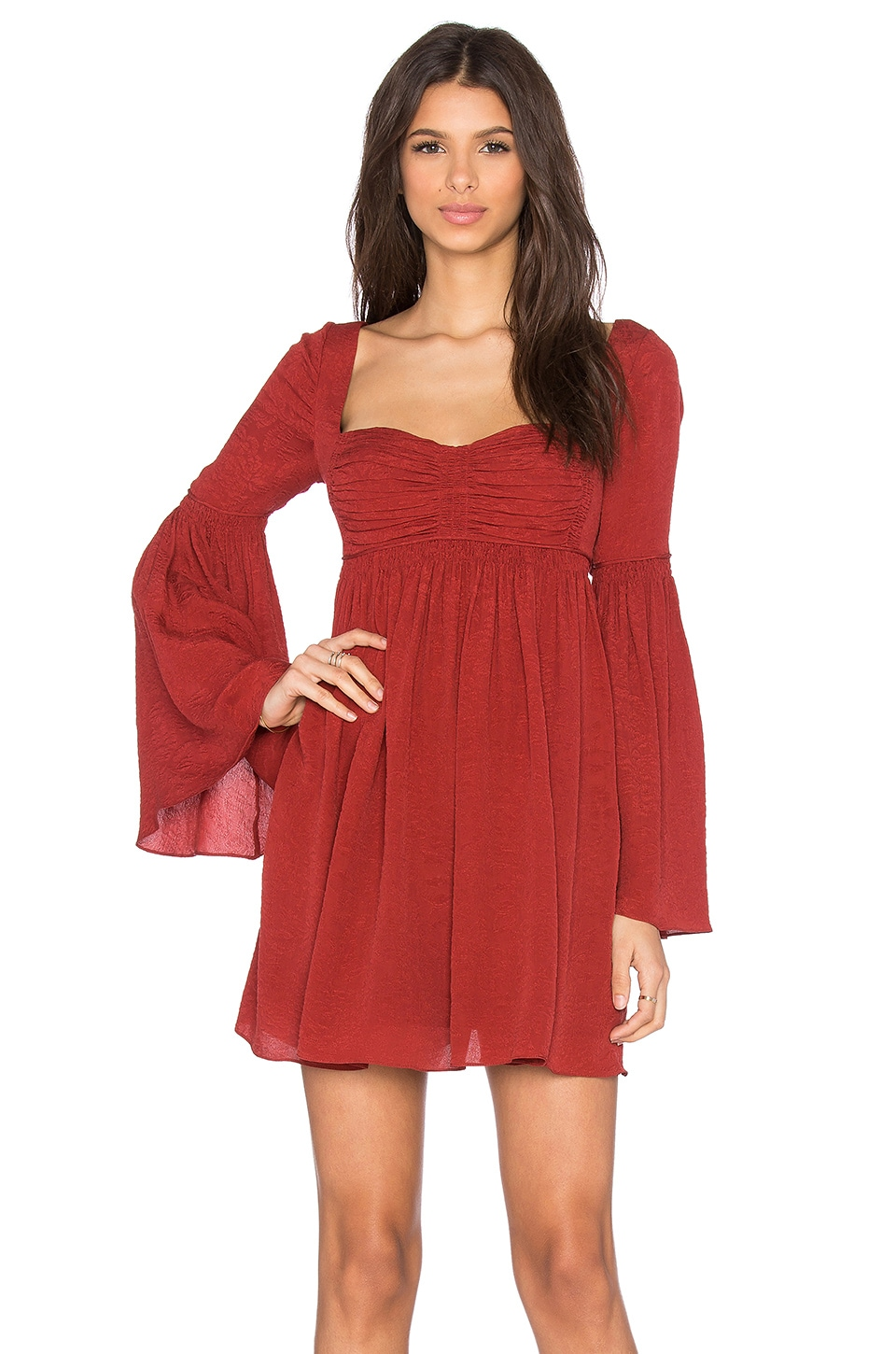 Free People Duchess Party Dress in Deep Red - REVOLVE