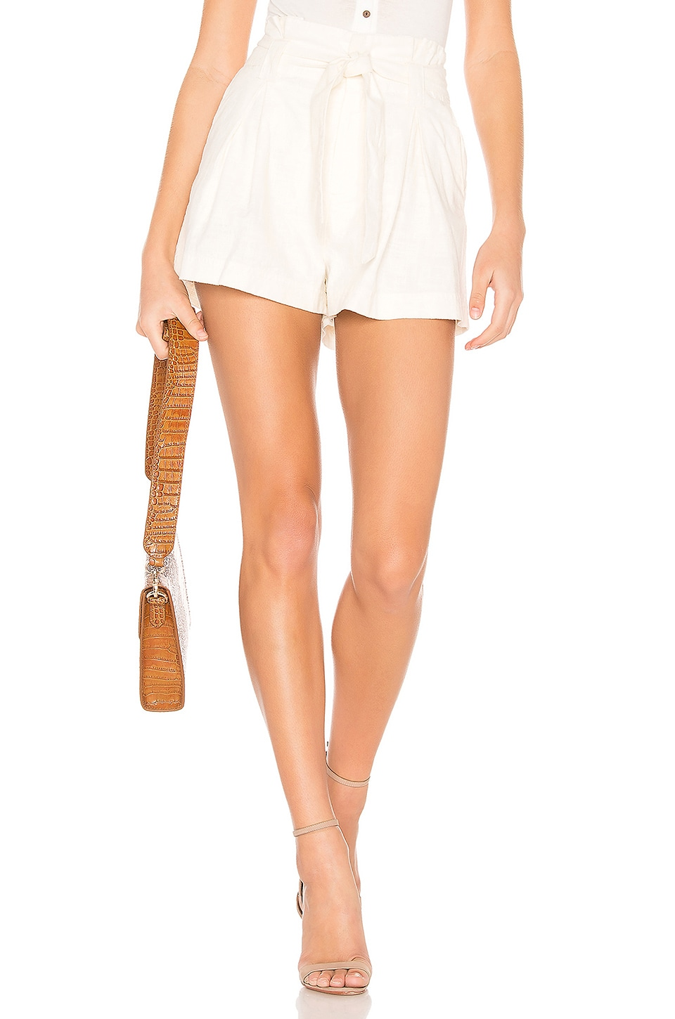 Free People Everywhere You Go Short in Cream