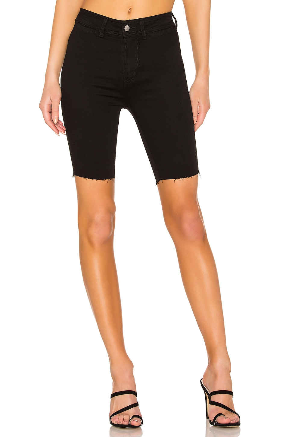 Free People So Chic Biker Short en Black