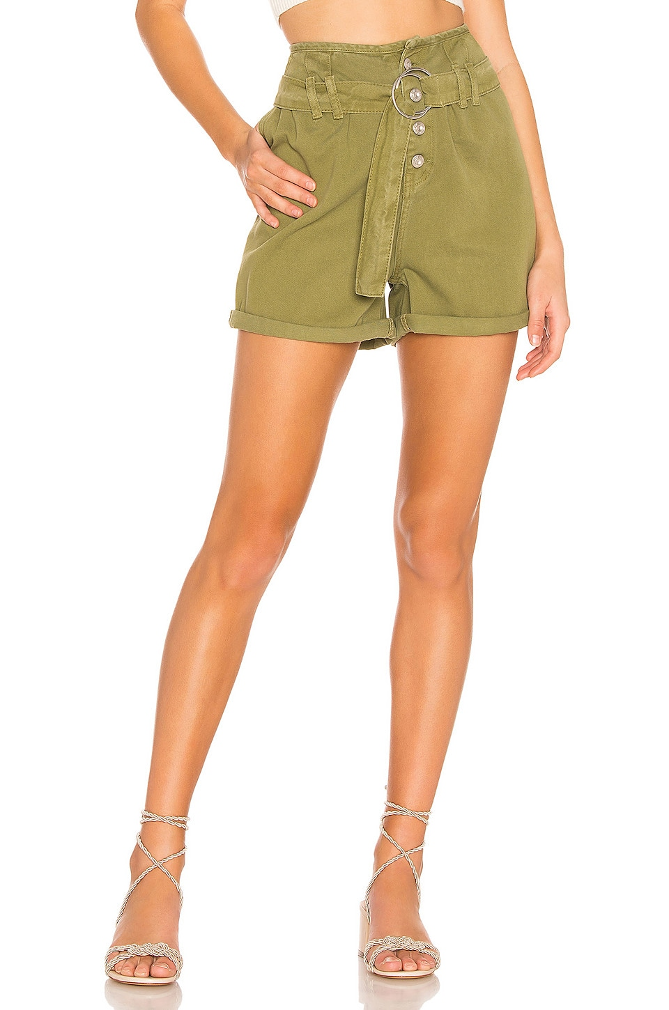 Free People Cindy Utility Short in Moss
