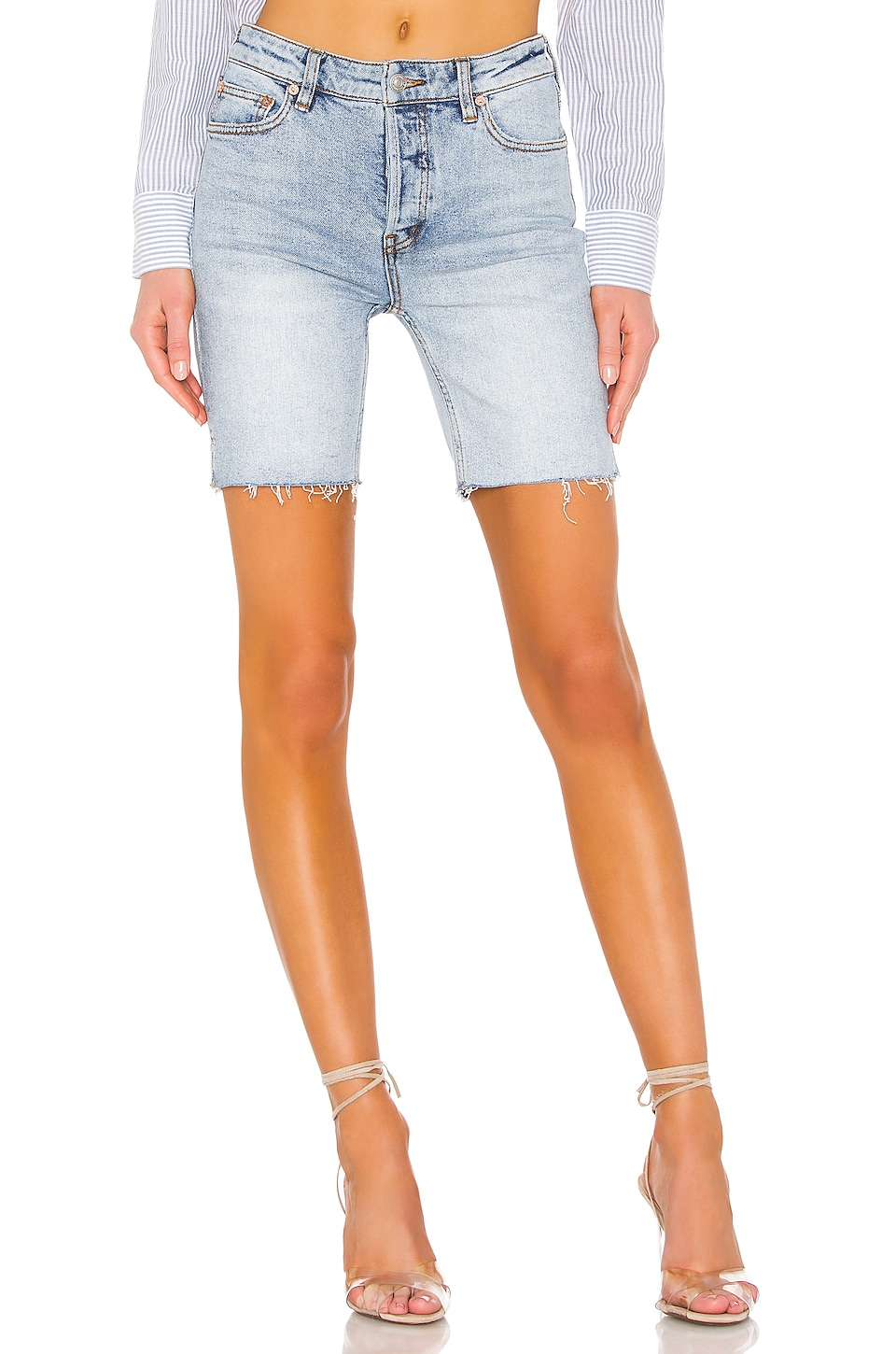 Free People Avery Bermuda Short en Denim Blue