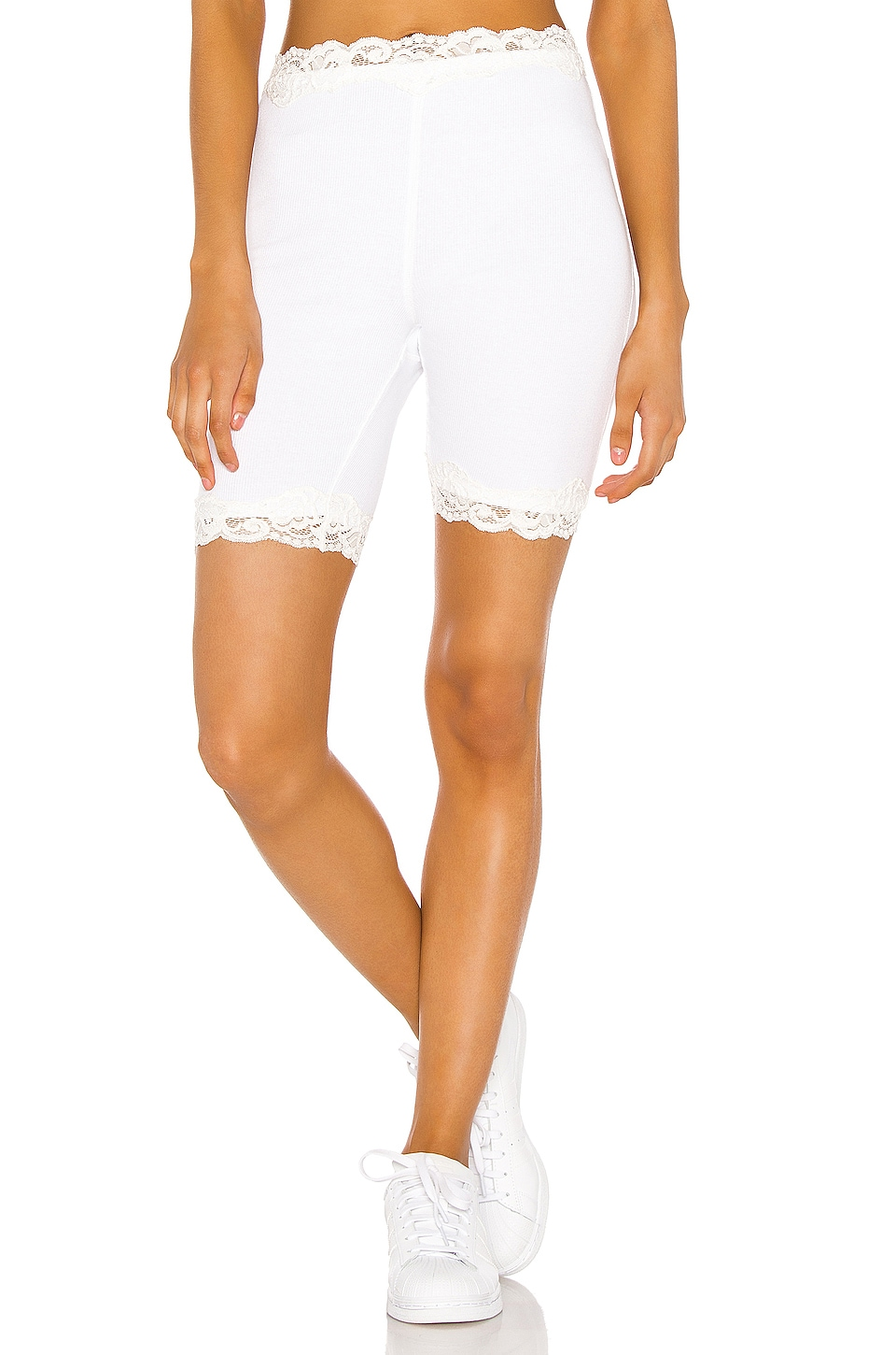 Free People Harlow Bike Short in Ivory