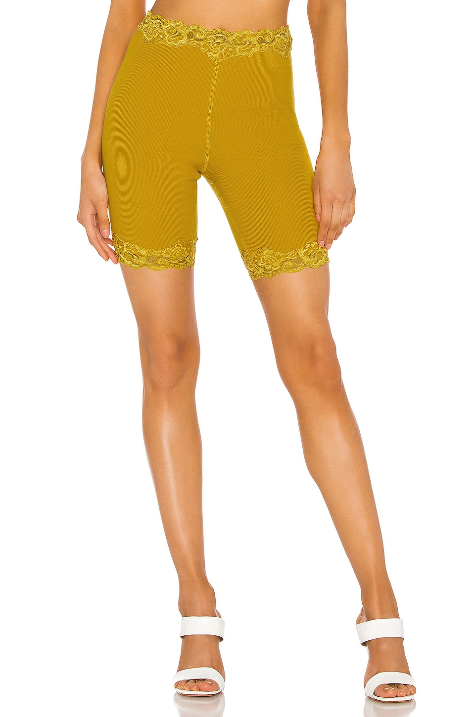 Free People Harlow Bike Short in Gold