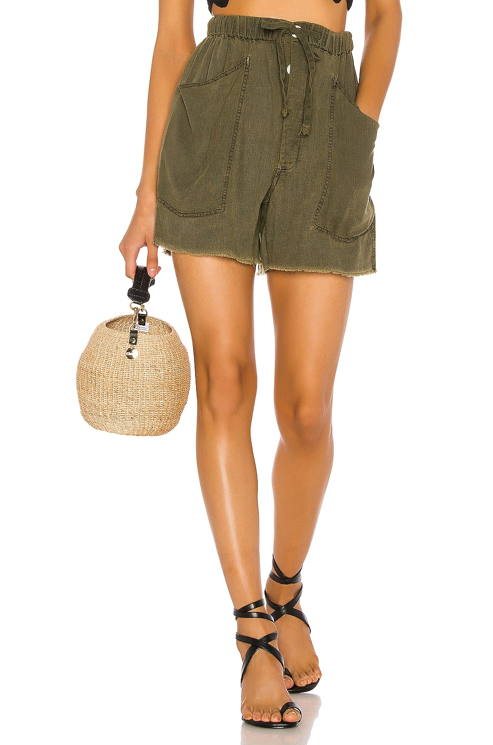 Free People Tomboy Short in Army
