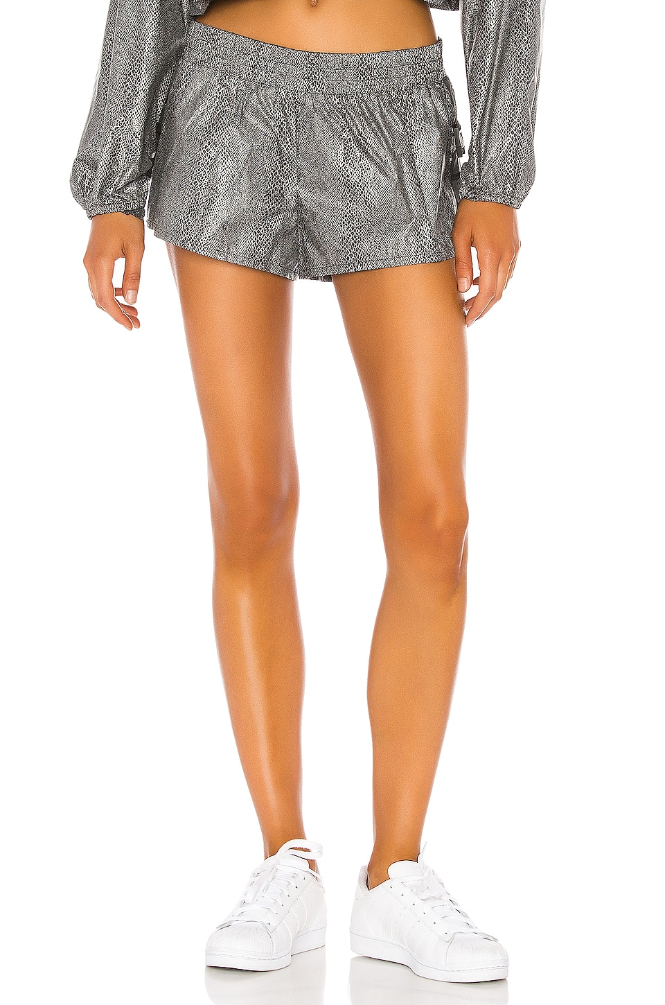Free People X FP Movement Diamond Back Reflective Short in Black Combo