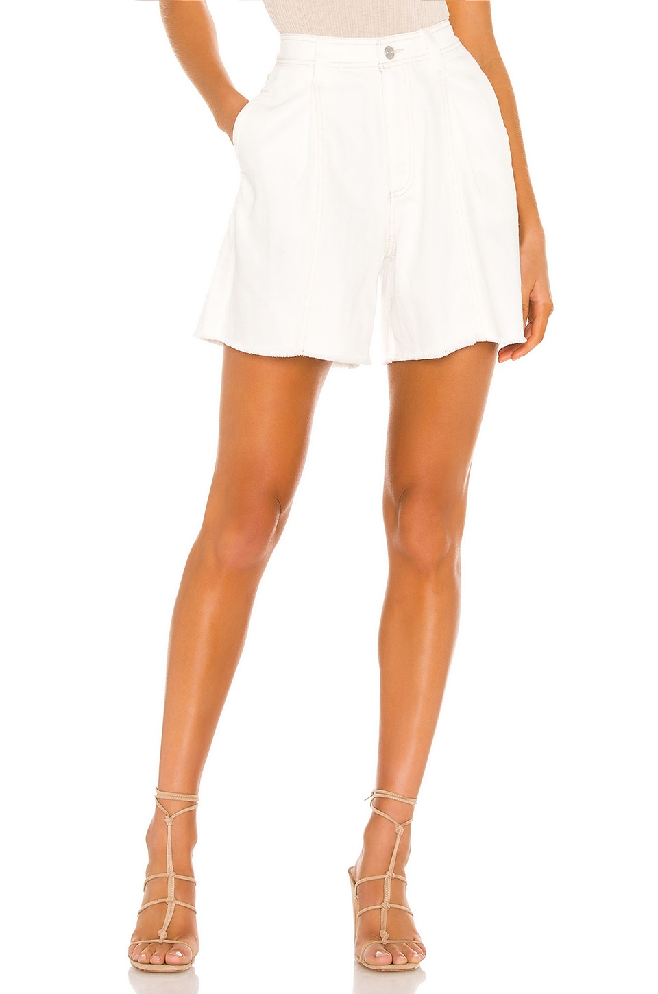Free People Amelie A-line Short in White