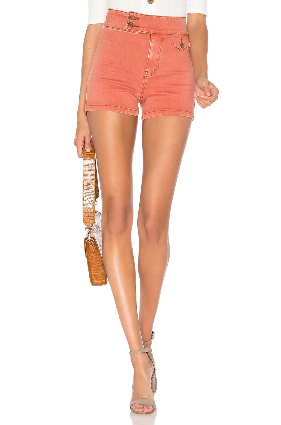 Free People Sammi Retro Short en Copper