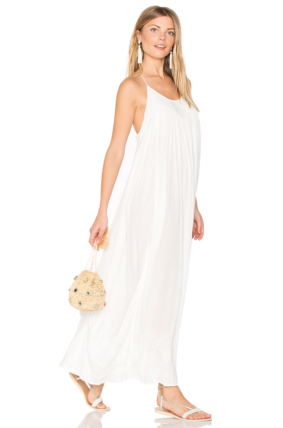 Embroidered Elaine Maxi Slip by Free People