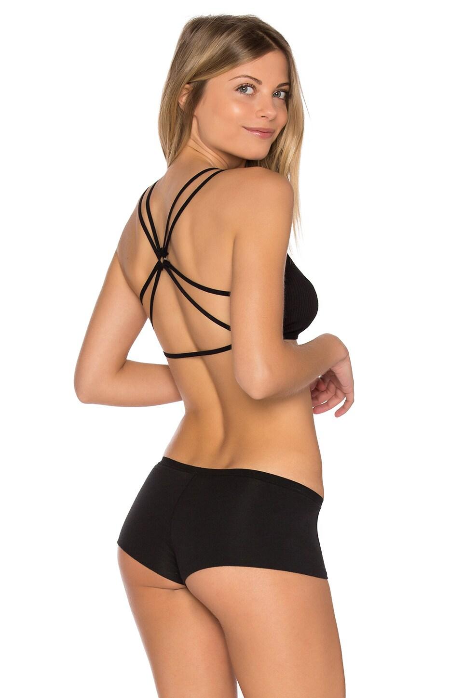 Free People Seamless Crossback Bralette in Black