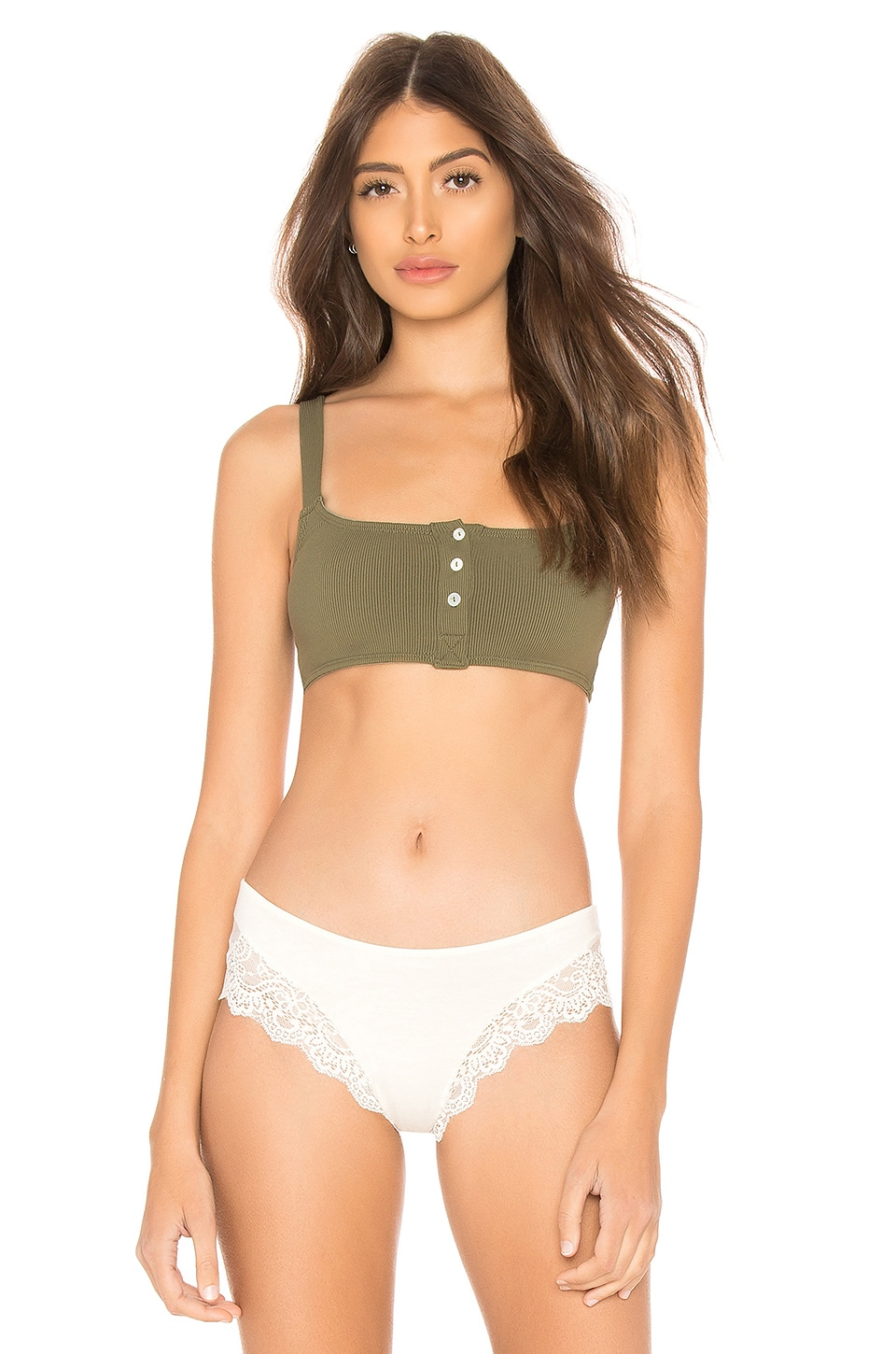 Details about  /Free People Remi Soft Bra Moss Green