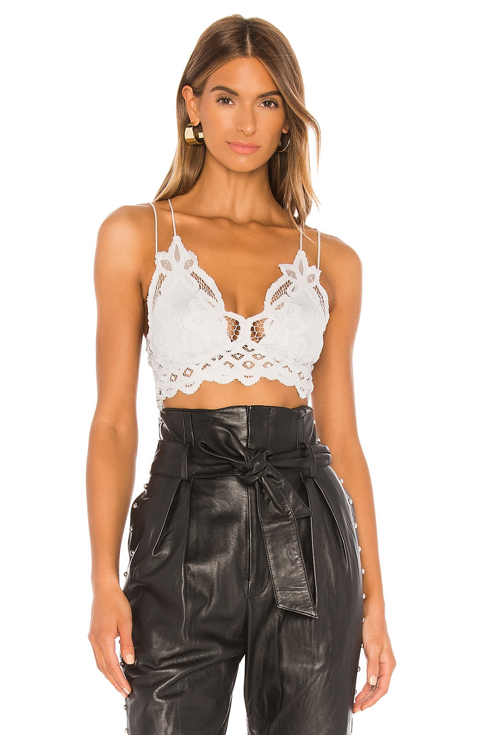 Free People Adella Bralette in Light Grey