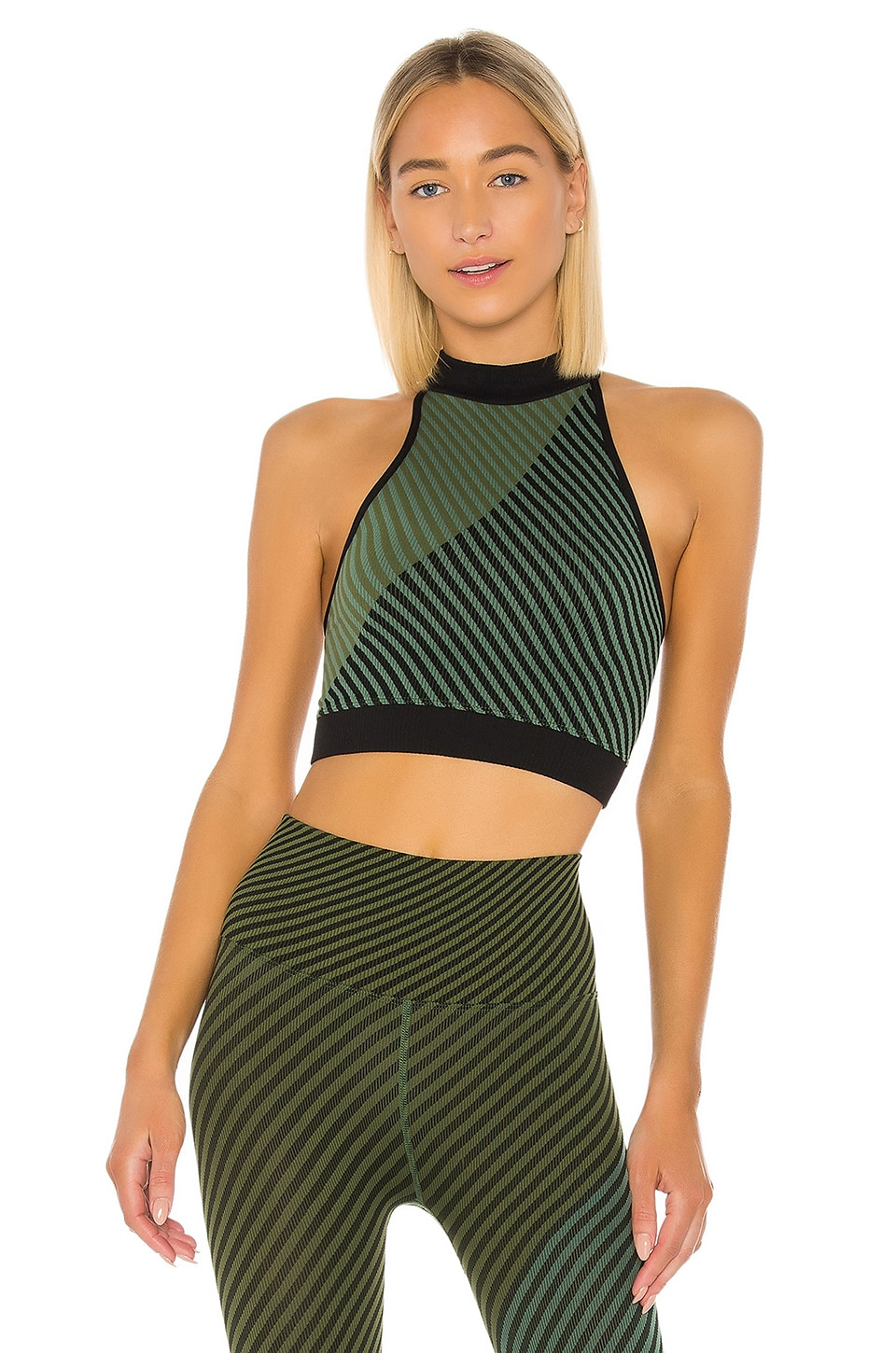 Free People X FP Movement Finders Keepers Crop in Green Combo