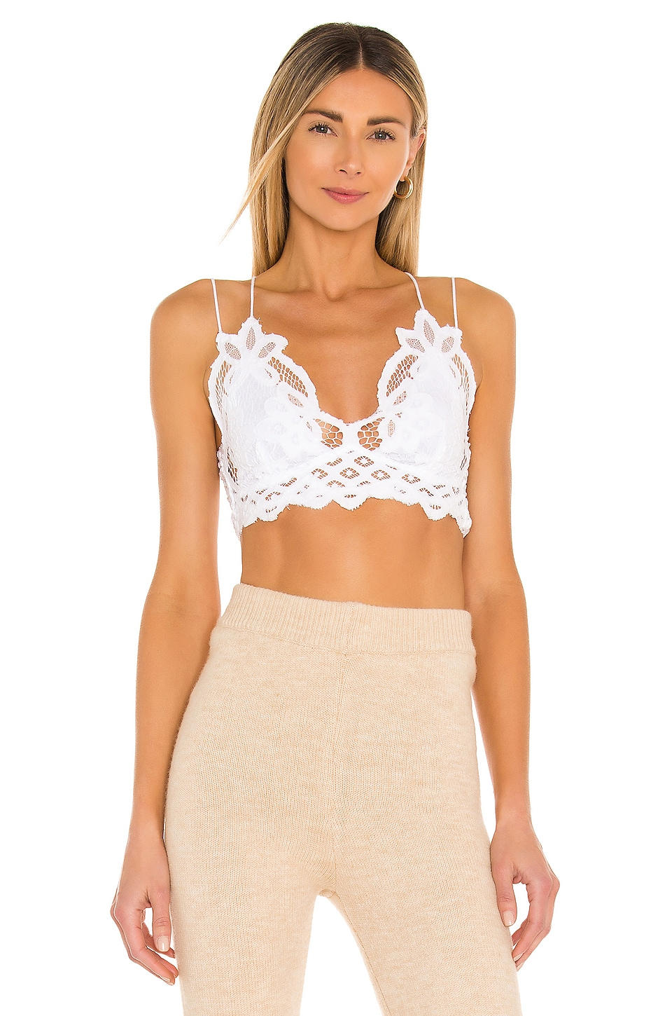 Free People Adella Bralette in White