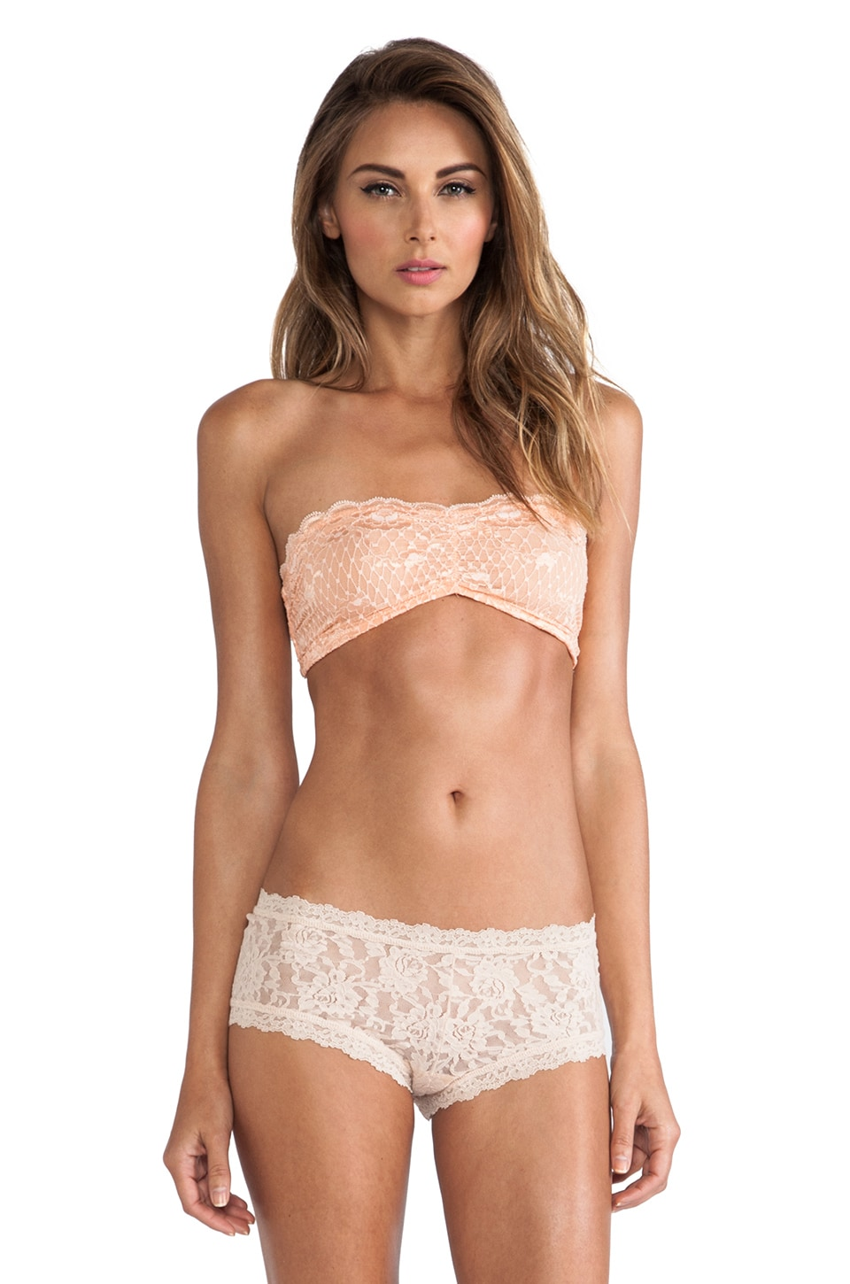Free People Essential Lace Bandeau in Cantaloupe