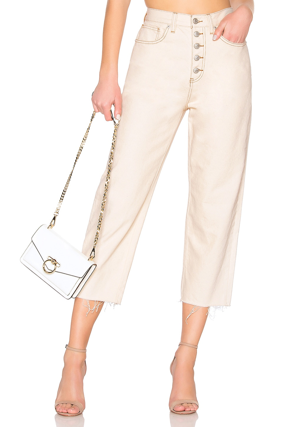 Free People Barrel Jean en Ivory