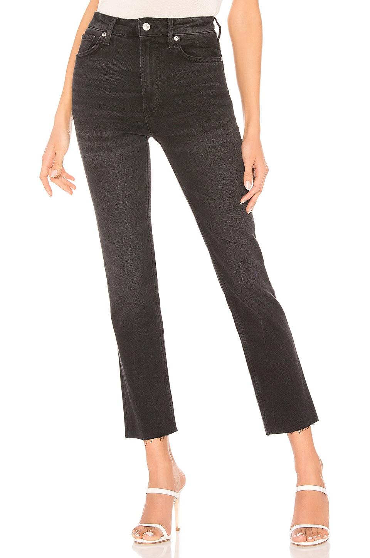Free People Hi Slim Straight Jean en Black